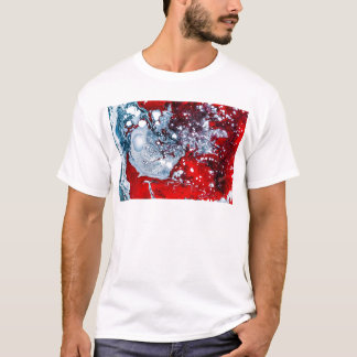 Red and Blue space marble T-Shirt