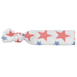Red and Blue Star Hair Tie