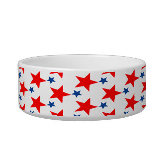 Red and Blue Star Pet Bowl