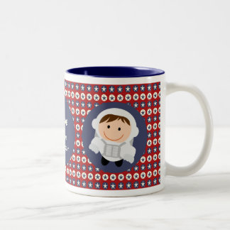 Red and Blue Stars Future Astronaut Mug