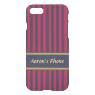 Red and Blue Stripes - Classy Design iPhone 8/7 Case
