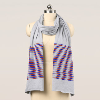 Red and Blue Stripes Soft Jersey Scarf
