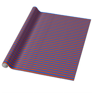 Red and Blue Stripped Wrapping Paper