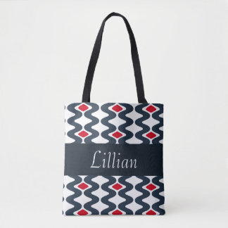 Red and Blue Swirl Tote