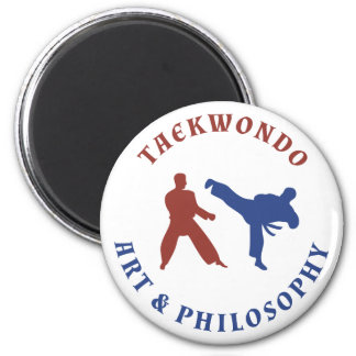 Red and Blue Taekwondo 2 Inch Round Magnet