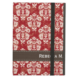 Red and Brown Damask Case For iPad Air