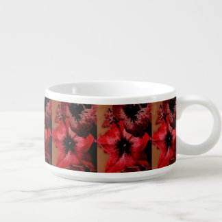 Red And Claret Petunia Bowl