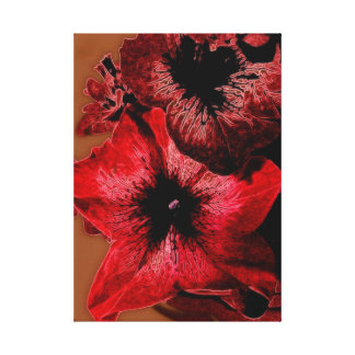 Red And Claret Petunia Canvas Print