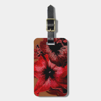 Red And Claret Petunia Luggage Tag