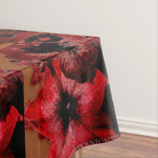 Red And Claret Petunia Tablecloth