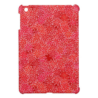 Red and coral flowers, dark red background iPad mini covers