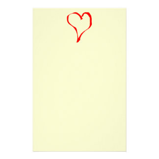 Red and Cream Love Heart Design. Stationery