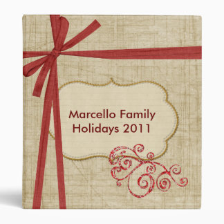 Red and Cream Personalized Holiday Photo Binder