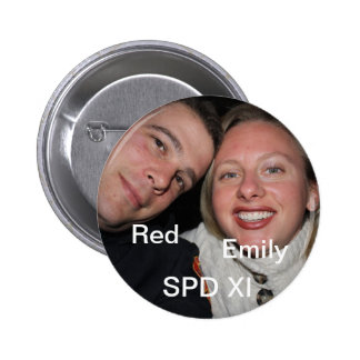 Red and Emily 2 Inch Round Button