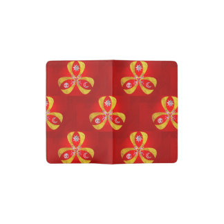 Red and fantasy symbol pocket moleskine notebook