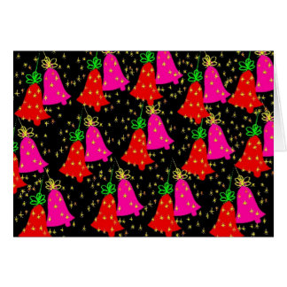 Red and Fuschia Bells holiday card