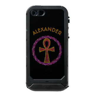 Red And Gold Ankh Symbol Ancient Egypt Wicca Incipio ATLAS ID™ iPhone 5 Case