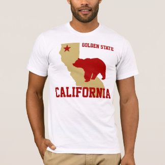 Red and Gold California T-Shirt