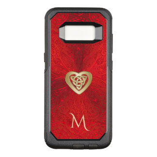 Red and Gold Celtic Heart Knot Mandala Otterbox OtterBox Commuter Samsung Galaxy S8 Case