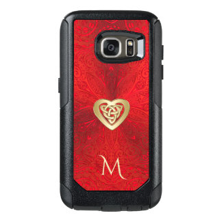 Red and Gold Celtic Heart Knot Mandala Otterbox OtterBox Samsung Galaxy S7 Case