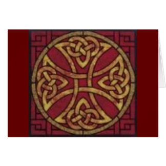 Red and Gold Celtic Knot Card