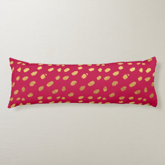 Red and Gold Confetti Body Pillow