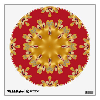 Red and Gold Fire Energy Mandala Wall Sticker