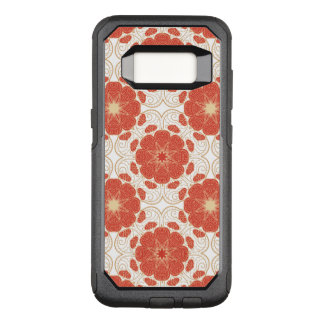 Red And Gold Floral Lace Pattern OtterBox Commuter Samsung Galaxy S8 Case