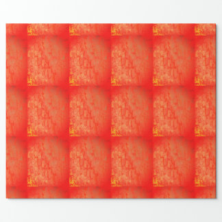 Red and Gold geometric gift wrappingpaper