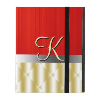 Red and Gold Glam iPad Covers