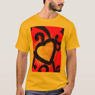 Red and Gold Heart Pattern (5) T-Shirt