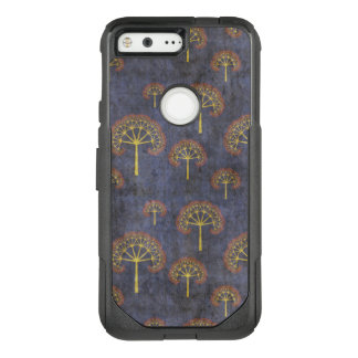 Red and Gold Tree Pattern on Blotchy Blue OtterBox Commuter Google Pixel Case
