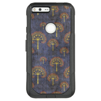 Red and Gold Tree Pattern on Blotchy Blue OtterBox Commuter Google Pixel XL Case