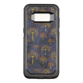 Red and Gold Tree Pattern on Blotchy Blue OtterBox Commuter Samsung Galaxy S8 Case