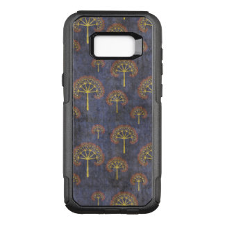Red and Gold Tree Pattern on Blotchy Blue OtterBox Commuter Samsung Galaxy S8+ Case