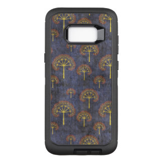 Red and Gold Tree Pattern on Blotchy Blue OtterBox Defender Samsung Galaxy S8+ Case