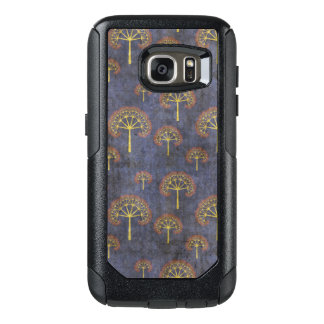 Red and Gold Tree Pattern on Blotchy Blue OtterBox Samsung Galaxy S7 Case