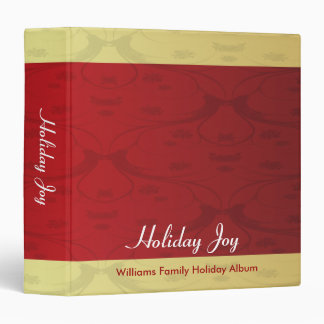 Red and Gold Vintage Holiday Joy Binders