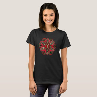 Red and Gold Zodiac Sign Aries T-Shirt