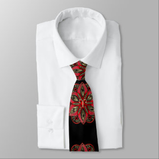 Red and Gold Zodiac Sign Aries Tie