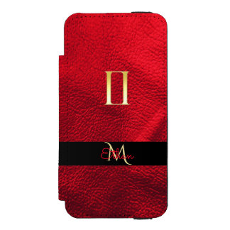 Red and Gold Zodiac Sign Gemini Monogram Incipio Watson™ iPhone 5 Wallet Case
