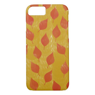 Red and Golden Leaves iPhone 7 Case