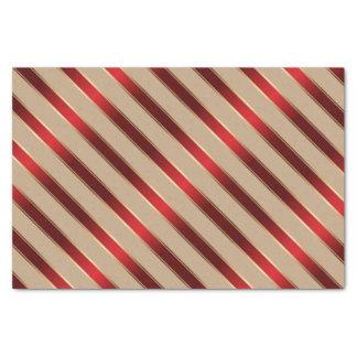 Red and Golden Metallic Diagonal Stripes Tissue Paper