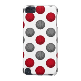 Red and Gray Basketball Pattern iPod Touch (5th Generation) Cover