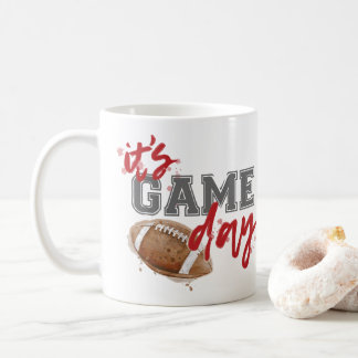 Red and Gray Game Day Mug