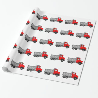 Red and Gray/Grey Cartoon Dump Truck