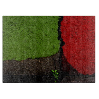 Red and Green Abstract Art Boards