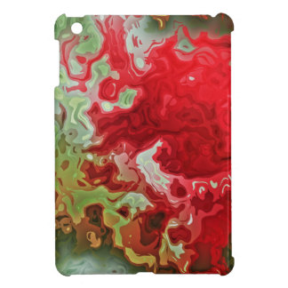 Red And Green abstract Case For The iPad Mini