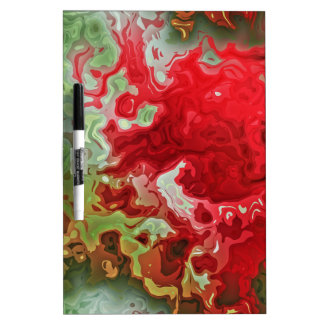 Red And Green abstract Dry Erase Board