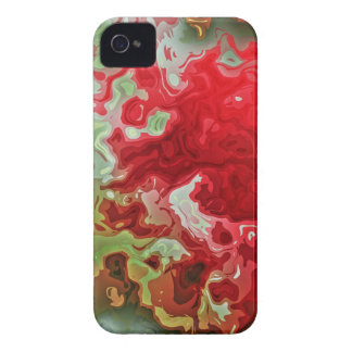 Red And Green abstract iPhone 4 Case